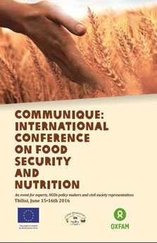 COMMUNIQEUE – INTERNATIONAL CONFERENCE ON FOOD SECURITY AND NUTRITION