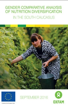 GENDER COMPARATIVE ANALYSIS OF NUTRITION DIVERSIFICATION IN THE SOUTH CAUCASUS